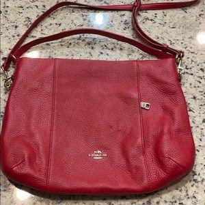 Leather Coach Hobo purse